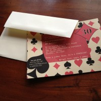Birthday Invitation (poker theme)